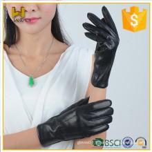 Fashion 100% véritable peau en peau de mouton top hiver cuir femmes gants