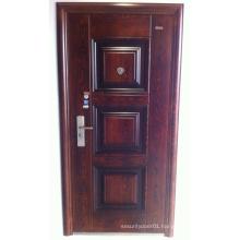 Panel Design Walnut Colour Steel Security Door