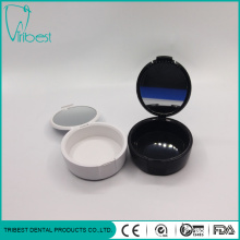 Portable Plastic Round Denture Case