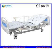 China Melhor venda hospital mobiliário manual três manivela camas médicas