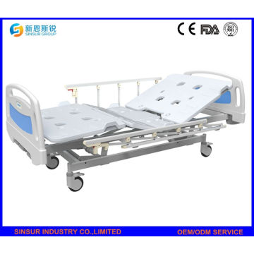 China Best Sale Hospital Furniture Manual Three Crank Medical Beds