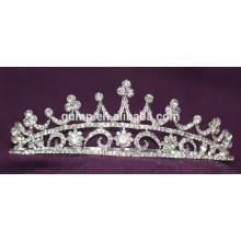 Descuento Shiny Headwear Crystal nupcial corona personalizado Tiara de la boda