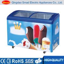 Скользящий стеклянный дверной морозильник для мороженого (SC / SD328Y)