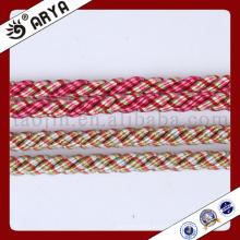 Dos tipos de color y hermosa cuerda decorativa para decoración de sofá o accesorios de decoración para el hogar, cuerda decorativa, 6mm