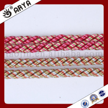 Dois tipos de cor e corda decorativa bonita para decoração de sofá ou acessórios para decoração de casa, cordão decorativo, 6mm