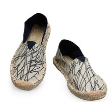 Hand-Made Multi Colors Canvas Upper Hemp Sole Unisex Espadrilles