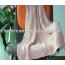 100% Soft Cotton Knitted Throw