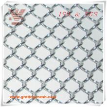 Acier inoxydable / treillis décoratif / maillon de chaîne pour la construction (ISO)