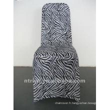 couverture de chaise de zèbre, couverture de chaise animaux, CTS878, fit toutes les chaises, mariage, banquet, couverture de chaise d'hôtel, châssis et table tissu