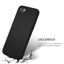 Black Carbon Fiber phone Cover Protector Phone Case for iPhone 8X