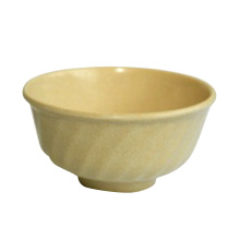 Bamboo Fiber Inclined Line Bowl