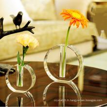 Artisanat européen de vase en cristal de K9 pour la décoration à la maison