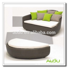 Audu Outdoor Wicker Garden Oval Round Bed