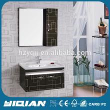 Vanité de salle de bain en acier inoxydable monté sur mur en céramique
