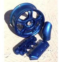 Azul cromo efeito spray pintura