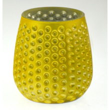 Yellow Pineapple Candle Holder (DRL15040)