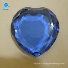 Presse-papiers en verre en forme de coeur en forme de diamant