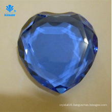 Heart-Shaped Diamond Crystal Handicrafts Glass Paperweight