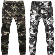 Pantalones de impresión de los hombres de OEM Pantalones de algodón de camuflaje Jogger