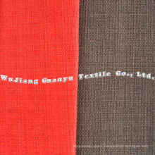 Polyester Linen Fabric with Back for Furniture Decoration