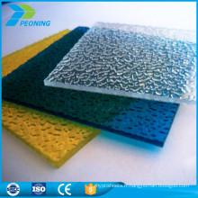 Portes de douche en polycarbonate embossées 10 mm Lexan