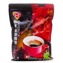 Pet / Al / Pe , Pet / Vmpet / Pe Printing Polyester Bottom Gusset Zip-lock Coffee Packaging Bags With Valve