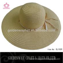 China Supplier New Paper Ladies Wide Brim Straw Hats