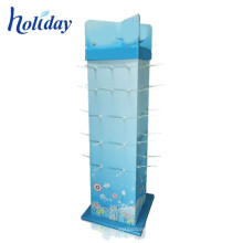 New Design Wholesales Hot Sale Merchandise Cardboard Display Sstand with Hooks