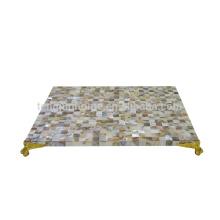 Новый дизайнерский коврик из полирезина с декором стола из речной раковины