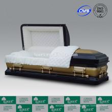 LUXES vente chaude American Metal cercueils 18ga cercueils colorés à vendre