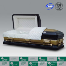 LUXES venda quente americano Metal porta 18ga colorido caixões para venda