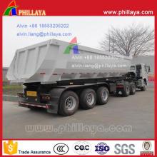Remorque arrière de Dumper de boîte de cargaison en forme de U de 32 tonnes