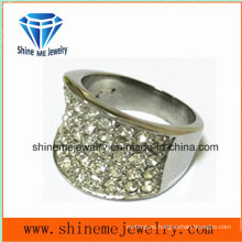 Moda de acero inoxidable joyas Castion anillo de dedo de piedra (SCR2982)