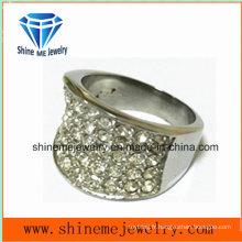 Bague à doigts en pierre à bague en acier inoxydable à mode en acier inoxydable (SCR2982)