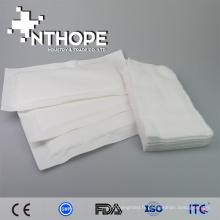 100% coton tampons de gaze plaie pansement et arrêter le saignement, fournisseur médical