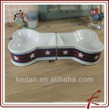 Cerâmica pet cão tigela