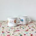 stainless steel enamel milk mug with pe lid