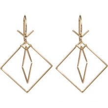 Stainless Steel Earrings Double Square Earrings Rose Gold Earrings for ladies