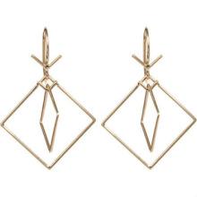 Серьги из нержавеющей стали Серьги с двумя квадратными серьгами из розового золота для дам