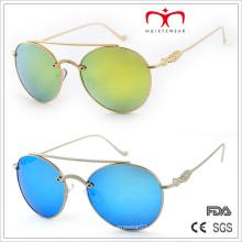 2015 Мода Металл украшены храм и круглые очки солнцезащитные очки (MI205)