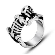 Горячая череп мужчины Костное кольцо нержавеющей стали 316L ювелирные изделия