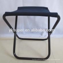 Cadeiras dobráveis de metal para camping, cadeira de pesca dobrável