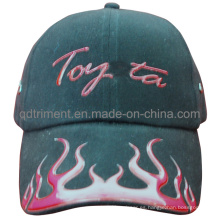 La impresión de alta frecuencia de la llama que compite con la gorra de béisbol del deporte (TMB9585-1)