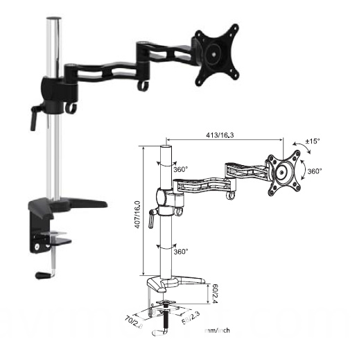AVRD07 desktop monitor arm mount
