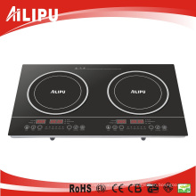 2015 2 Burner CB Certificate 2000 Watt Portable Save Energy Slide Control Electric Induction Cooker