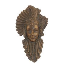 Soulagement En Laiton Statue Femme Masque Relievo Bronze Sculpture Tpy-885