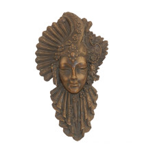 Relief Brass Statue Woman Mask Relievo Bronze Sculpture Tpy-885