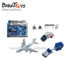 920021216 Die cast set with plane and truck
