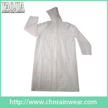 Yj-6202 EVA Printed Kids Girls Raincoats Women Rainwear
