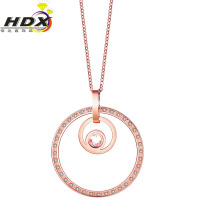Fashion Accessories Stainless Steel Jewelry Gold Diamond Necklace (hdx1139)
